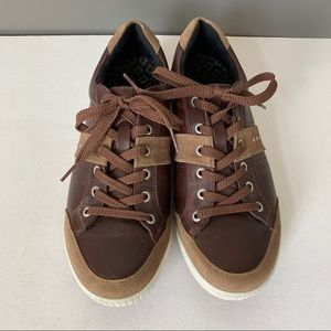 Ecco Leather Lace Up Sneakers Shoes Size 44